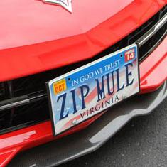 Corvette License Plate Mounts & Frames