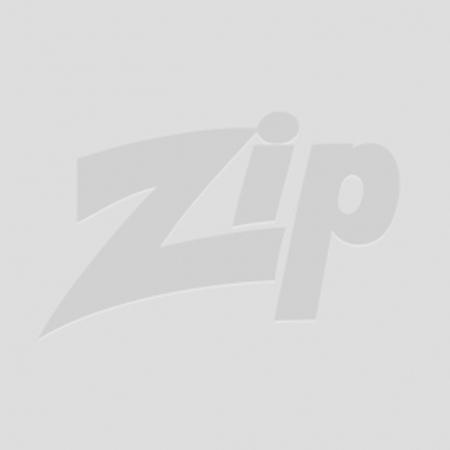 73-82 Aluminum Wheel Spinner Emblems - Cross Flag Black