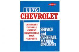 1976 Corvette Shop/Service Manual Supplement