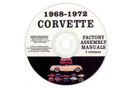 1968-1972 Corvette Assembly Manual on CD