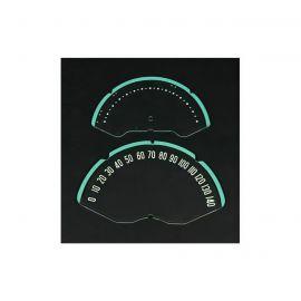 53-57 Speedometer Lens w/Numbers