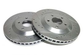 "88-95 12"" Power Stop Drilled & Slotted Rotors - Front (Default)"