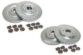 06-13 Z06/GS Power Stop Drilled & Slotted Rotors w/Z26 Warrior Brake Pads
