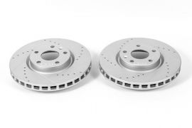 14-18 JL9 Power Stop Drilled & Slotted Front Rotors