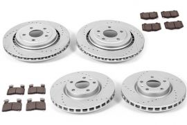14-18 JL9 Power stop Drilled & Slotted Rotors w/ Z26 Brake Pads