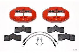 1965-1982 Corvette D8-4 Wilwood Aluminum Front Brake Kit (Red)