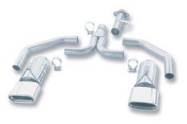 86-91 Borla Stinger Exhaust System - Rectangular Tips