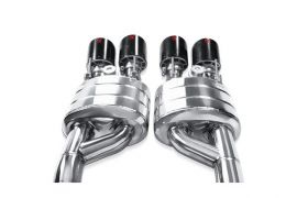 06-13 Z06/ZR1 Akrapovic Stainless Slip-On Exhaust System w/125mm Carbon Tips