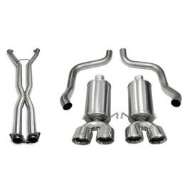 05-08 LS2/LS3 Manual & A4 Auto Corsa Xtreme Cat-Back Exhaust System - Quad 3.5in Polished Tips