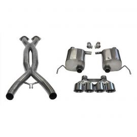 14-19 LT1 & 17-19 GS w/Auto CORSA Double Helixx X-Pipe & Xtreme Valve-Back Exhaust System w/Polished 4.5in Tips