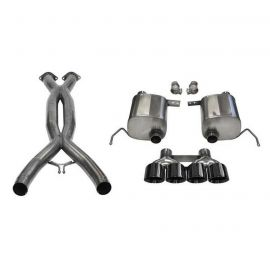 14-19 LT1 & 17-19 GS w/Auto CORSA Double Helixx X-Pipe & Xtreme Valve-Back Exhaust System w/Black PVD 4.5in Tips