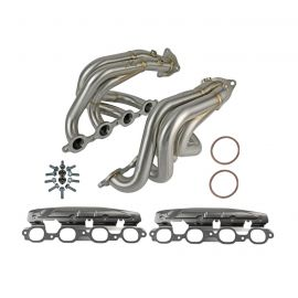20-21 aFe Twisted Steel Stainless Shorty Headers (Brushed Finish)