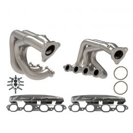 20-21 aFe Twisted Steel Stainless Shorty Headers (Titanium Coat)