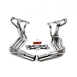 63-74 327/350 Doug's Headers Side Mount Exhaust Header - Polished Stainless