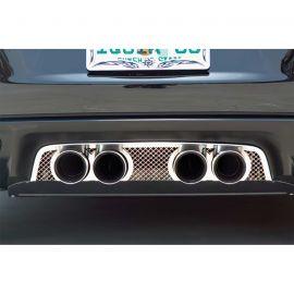 2005-2013 Corvette Laser Mesh Exhaust Port Filler Panel - Factory Exhaust