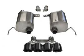 14-19 LT1 & 17-19 GS w/Auto CORSA Xtreme Valve-Back Exhaust System w/Quad 4.5in Black Tips