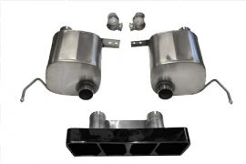 14-18 Corsa Xtreme Valve Back Exhaust System w/Black Polygon Tip (Default)
