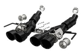 """14-19 LT1 & 17-19 GS w/Auto Magnaflow Valve-Back Competition Exhaust w/4.5"""" Quad Tips (Black)"""