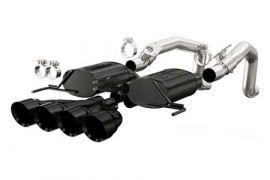 """14-18 Magnaflow Axle-Back Exhaust System w/4.5"""" Quad Tips (Black) (Default)"""