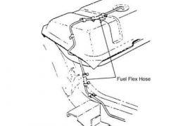 57-62 Gas Tank Sending Unit (Meter) to Fuel Line Hose Kit