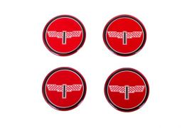 73-82 Aluminum Wheel Spinner Emblems - Victory Red