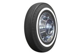 62-64 670R15 American Classic Bias Look Radial Tire - 1in Whitewall