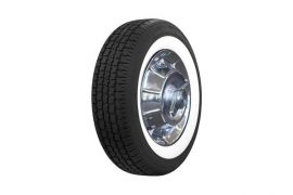 56-61 205/75R15 American Classic Radial Tire - 2 1/2in White Wall
