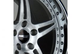 Forgeline Option A - Brushed W/Clear Center Wheel
