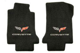 """2005-2007E Corvette Lloyd Ultimat Floor Mats w/C6 Emblem & """"Corvette"""""""