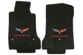 """2007L-2013E Corvette Lloyd Ultimat Floor Mats w/C6 Emblem & """"Corvette"""""""