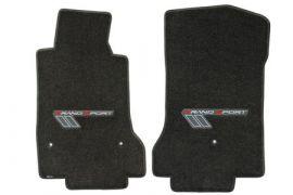 2010-2013E Corvette Lloyd Ultimat Floor Mats w/Grand Sport Logo (Red/Silver)