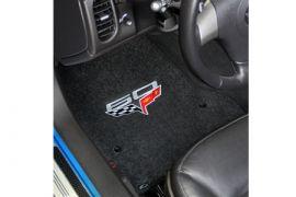 2013E Corvette Lloyd Ultimat Floor Mats w/60th Logo (60th above flags)