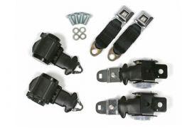 72-73 Coupe & Conv Seat Belt Set w/Shoulder Harness (Economy)