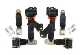74-77 Coupe Seat Belt Set w/Shoulder Harness (Economy)