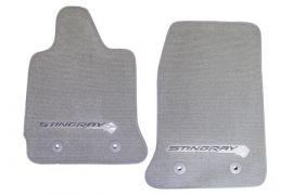 2014-2018 Corvette Stingray GM Front Floor Mats (Gray)