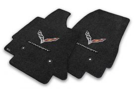 14-18 Lloyd Floor Mats w/C7 Cross Flag & Stingray Script (Accessory Color_Script Color)