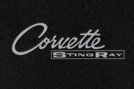 63-67 Lloyd Ultimat Floor Mats w/ Corvette Sting Ray Emblem (63-65 Style) (UltimatFlrMtCol_ScriptColor)