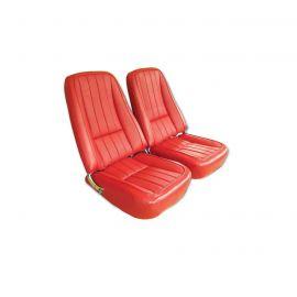 68E Complete Pre-Assembled Leather Like (Vinyl) Seats w/Frames w/Headrest Brackets