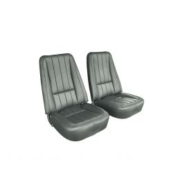 69 Complete Pre-Assembled Leather Like (Vinyl) Seats w/Frames w/Headrest Brackets
