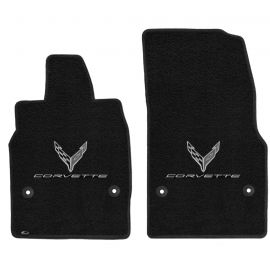 20-21 Lloyd Ultimat Floor Mats w/C8 Emblem & Corvette Script (Monochromatic)