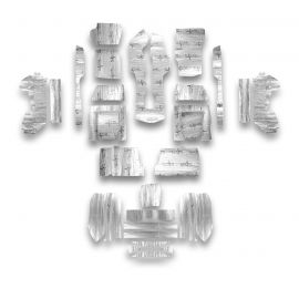 68-75 Conv Flatline Barrier Full Car Insulation Kit (Floor,Cargo, Doors)