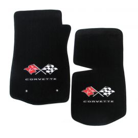68-73 Lloyd Ultimat Floor Mats w/ Cross Flag Emblem & CORVETTE