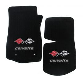 76 Lloyd Ultimat Floor Mats w/ Cross Flag & CORVETTE