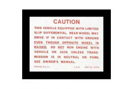 1959-1971 Corvette Positraction Trunk Decal