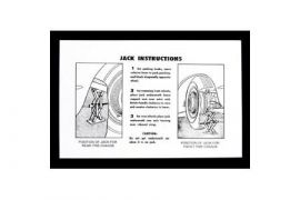 1953-1960 Corvette Jacking Instructions Decal