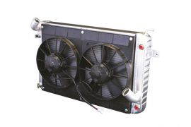68-72 327/350 w/o AC Conversion Direct Fit Aluminum Radiator & Fan Combo (427 Style)