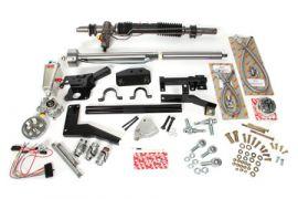 1958-1962 Corvette Steeroids Rack & Pinion Kit - Power (Black Column)