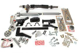 1953-1957 Corvette Steeroids Rack & Pinion Kit - Power (Chrome Column)