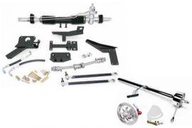 1958-1962 Corvette Steeroids Rack & Pinion Kit - Power (Chrome Column)