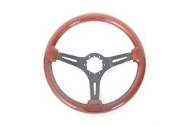 69-82 Mahogany Steering Wheel w/Black Spokes